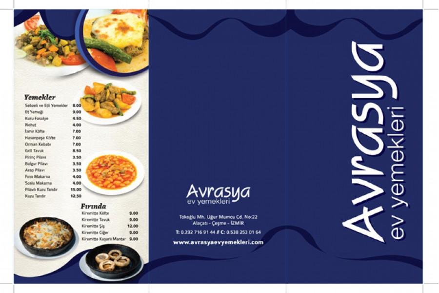 Avrasya Ev Yemekleri Menü Tasarım ve Baskı