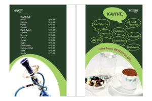 Beyazıt Kahvesi Menü Tasarımı